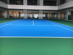 Acrylic tennis court in Victoria Sports Tower Station-Philippine