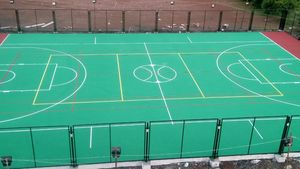 8layers acrylic multipurpose court in 725sqm