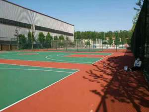 Outdoor Self leveling PU basketball court